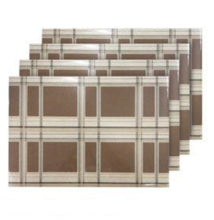 Load image into Gallery viewer, Dainty Home Sidewalks Reversible Metallic Printed Set of 4 Placemats