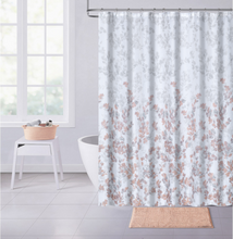 "Load image into Gallery viewer, Dainty Home Spring Waffle Weave Fabric Shower Curtain, 70""W x 72""L"