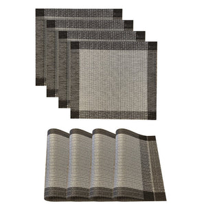Dainty Home Palermo Square 4 Piece Vinyl Placemat Set (Set of 4)