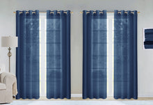 "Load image into Gallery viewer, Dainty Home Malibu Textured Semi-Sheer Grommet Top Curtain Panel Pair, 54"" x 84"" Set of 4"