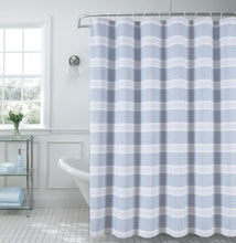 "Load image into Gallery viewer, Dainty Home Madison Striped 70"" x 72"" Shower Curtain"