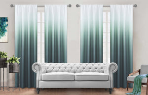 "Dainty Home Shades Ombre 160"" x 84"" Window Curtain Set Of 4 (40"" Each)"