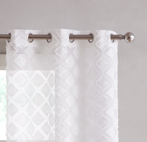 Dainty Home Katie Grommet Panel Pair Window Curtain