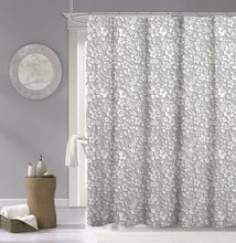 Load image into Gallery viewer, Dainty Home 100% Cotton  Floral 3d Look Fabric Shower Curtain, 70''W x 72''L, White