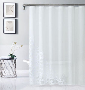 "Dainty Home Natalie 70"" x 72"" Appliqued Shower Curtain"