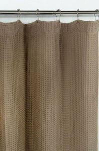 "Dainty Home Imperial 70"" x 72"" 100% Cotton Waffle Shower Curtain"