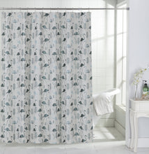 Load image into Gallery viewer, Dainty Home Flamingo Tropical Pattern Fabric Shower Curtain