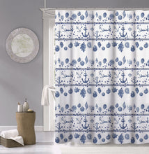 Load image into Gallery viewer, Dainty Home 100% Cotton Marine Fabric Shower Curtain, 70'' W x 72'' L