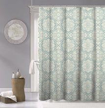 Load image into Gallery viewer, Dainty Home 100% Cotton Medallion Fabric Shower Curtain, 70'' W x 72'' L