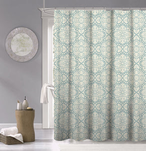 Dainty Home 100% Cotton Medallion Fabric Shower Curtain, 70'' W x 72'' L