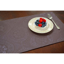 Load image into Gallery viewer, Dainty Home Hyde Park Burgundy Faux Leather Placemat (Set of 4)