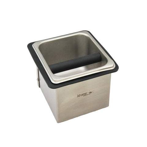 Stainless Steel Counter Top Knock Box, 7.32″X7.32″X5.07″