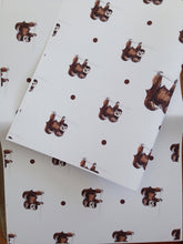 Load image into Gallery viewer, Sloth wrapping paper,gift wrap,for sloth lovers,sloths,  read description, FOR SMALLER GIFTS