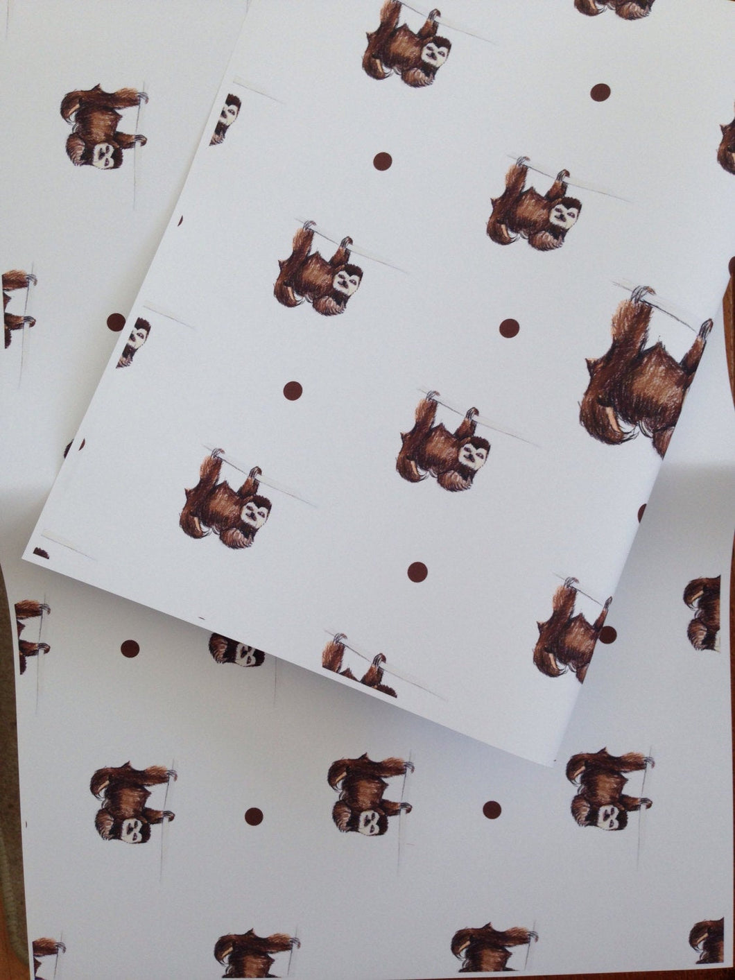 Sloth wrapping paper,gift wrap,for sloth lovers,sloths,  read description, FOR SMALLER GIFTS