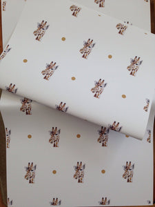 Giraffe wrapping paper , gift wrap  FOR SMALLER GIFTS
