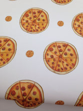 Load image into Gallery viewer, Pizza wrapping paper, gift wrap, for pizza lovers, for food lovers, pizza, read description FOR SMALLER GIFTS