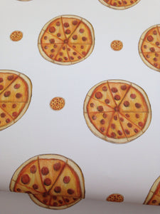 Pizza wrapping paper, gift wrap, for pizza lovers, for food lovers, pizza, read description FOR SMALLER GIFTS