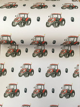 Load image into Gallery viewer, Tractor , wrapping paper ,gift wrap , FOR SMALLER GIFTS