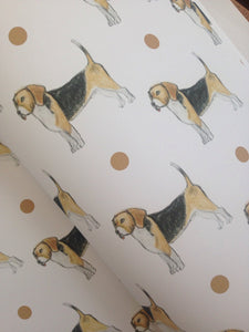 Beagle, wrapping paper , gift wrap, for beagle lovers, for dog owners, Beagles, read description FOR SMALLER GIFTS