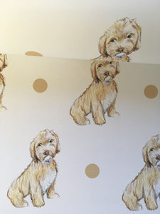 Cockapoo, wrapping paper ,gift wrap  FOR SMALLER GIFTS