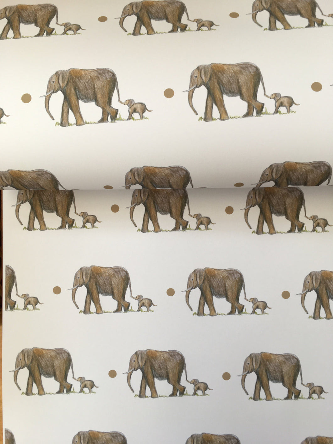 Elephant, wrapping paper ,gift wrap, FOR SMALLER GIFTS