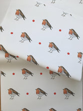 Load image into Gallery viewer, Robin, wrapping paper, gift wrap  FOR SMALLER GIFTS