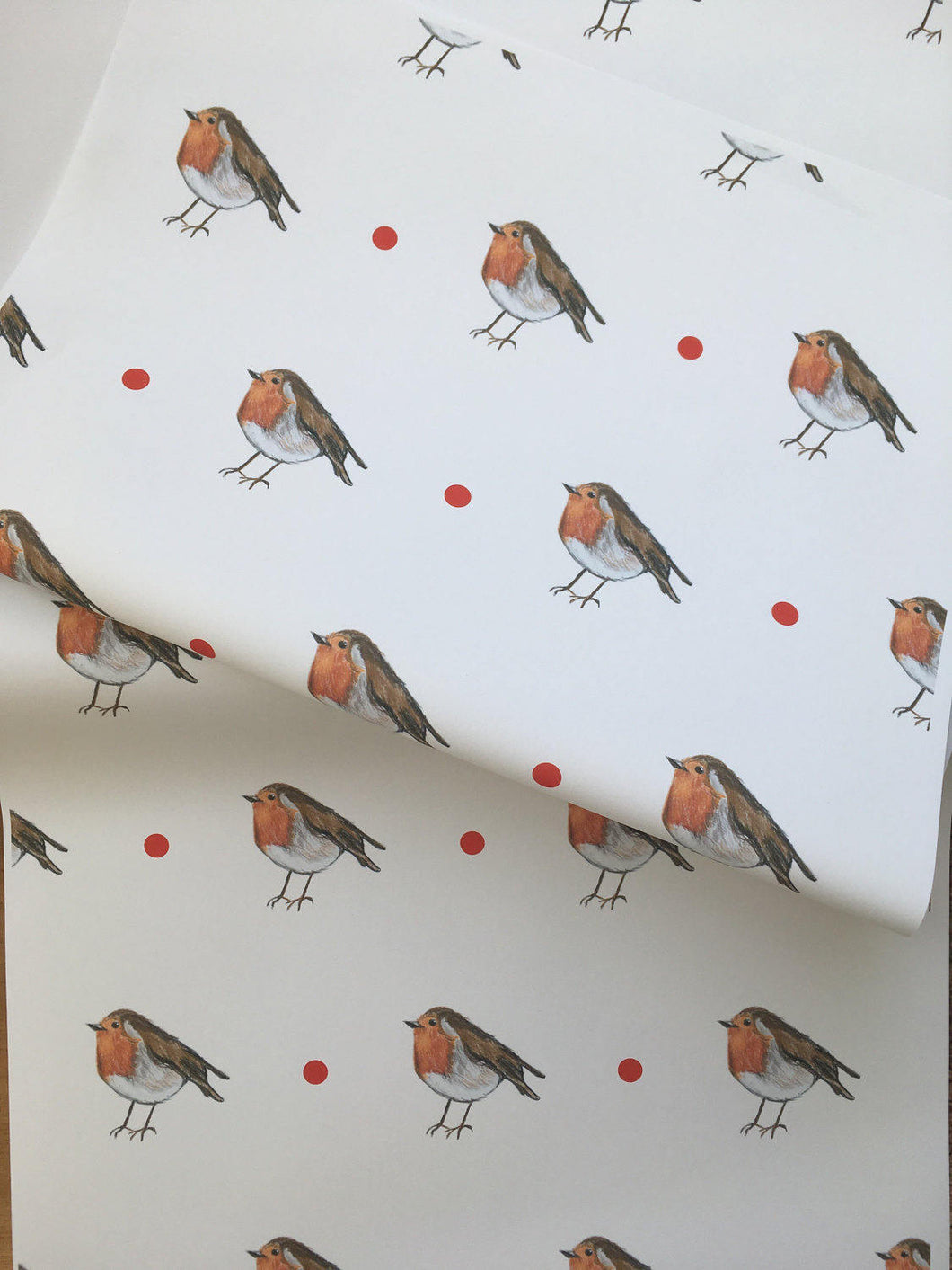 Robin, wrapping paper, gift wrap  FOR SMALLER GIFTS