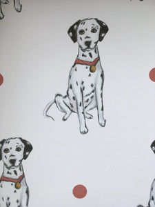Dalmatian, wrapping paper, gift wrap, FOR SMALLER GIFTS