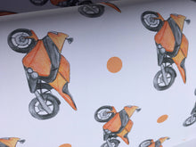 Load image into Gallery viewer, Motorbike, wrapping paper, gift wrap, for motorbike lovers, for motorbike riders, for Father's Day, read description