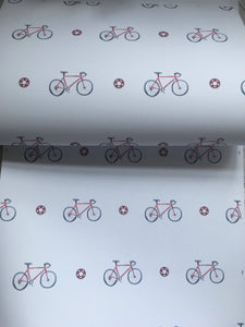 Bicycle, bike, wrapping paper, gift wrap, for bike riders, for bike lovers, read description FOR SMALLER GIFTS