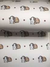 Load image into Gallery viewer, Guinea pig, wrapping paper, gift wrap, for guinea pig lovers,  read description, FOR SMALLER GIFTS