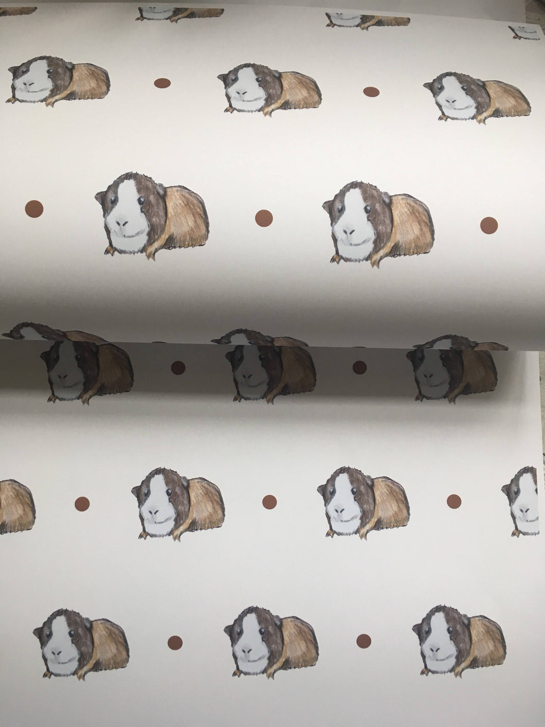 Guinea pig, wrapping paper, gift wrap, for guinea pig lovers,  read description, FOR SMALLER GIFTS