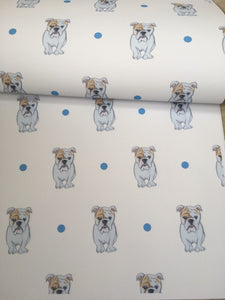 English bulldog, british bulldog, wrapping paper, gift wrap  FOR SMALLER GIFTS