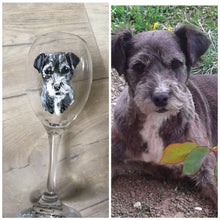 Load image into Gallery viewer, Pet portrait, wine glass