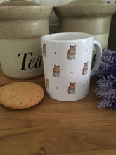 Load image into Gallery viewer, Hamster, mug,tea mug, for hamster lovers, hamster gift, hamster mug, mug and coaster set