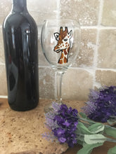 Load image into Gallery viewer, Giraffe wine glass, gin glass, gift idea
