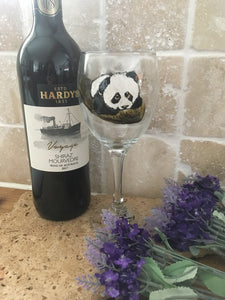 Panda, wine glass, for panda lovers, for wine lovers, for wine drivers, panda gift idea, panda gin glass