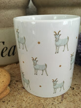Load image into Gallery viewer, Goat mug, goats, for goat lovers, for farmers, goat gift, for tea lovers, mug and coaster set