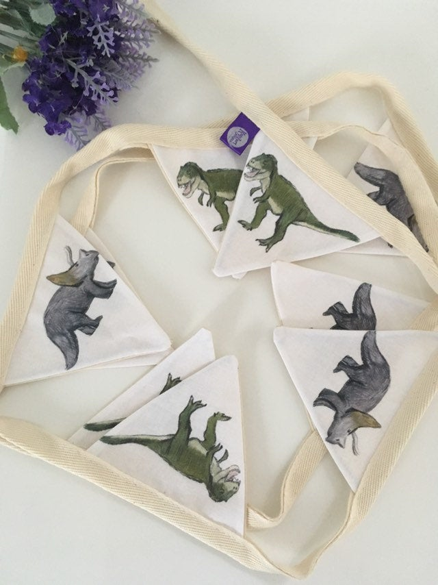 Dinosaur  bunting, garland, decor