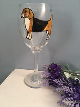 Load image into Gallery viewer, Beagle wine glass, gin glass, gift idea