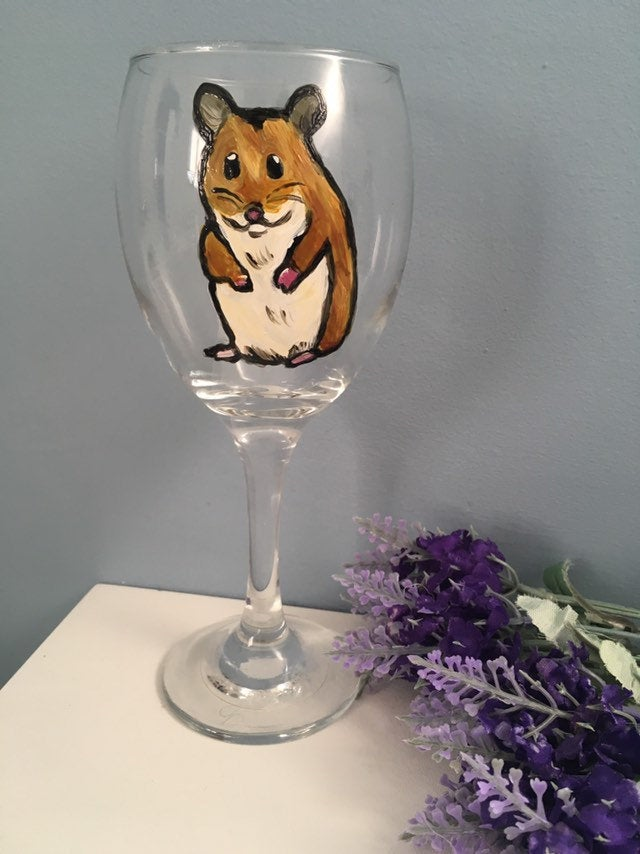 Hamster wine glass,gin glass
