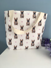 Load image into Gallery viewer, French bulldog tote bag