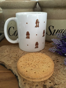 Cocker spaniel mug, mug and coaster set