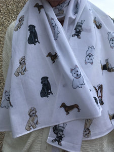 cotton dog scarf, gift, accessory