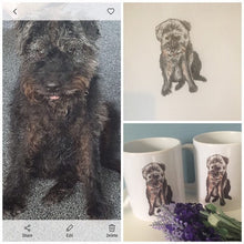 Load image into Gallery viewer, Pet portrait,mug, hand painted, cats,dogs, animals, for animal lovers, for pet owners
