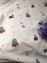 Load image into Gallery viewer, Woodland animal, apron, pinny, for fox lovers, hedgehog lovers, badger lovers , squirrel lovers, waist apron