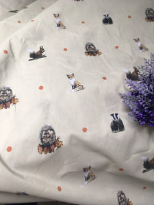 Woodland animal, apron, pinny, for fox lovers, hedgehog lovers, badger lovers , squirrel lovers, waist apron