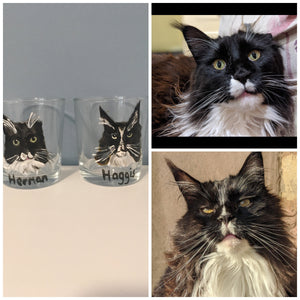Pet portrait , whiskey glasses, whiskey tumblers, for dog lovers, for cat owners , for pet owners, for whiskey lovers