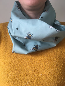 bumble bee, scarf, infinity scarf, loop