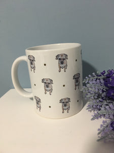 Border terrier mug, mug and coaster set